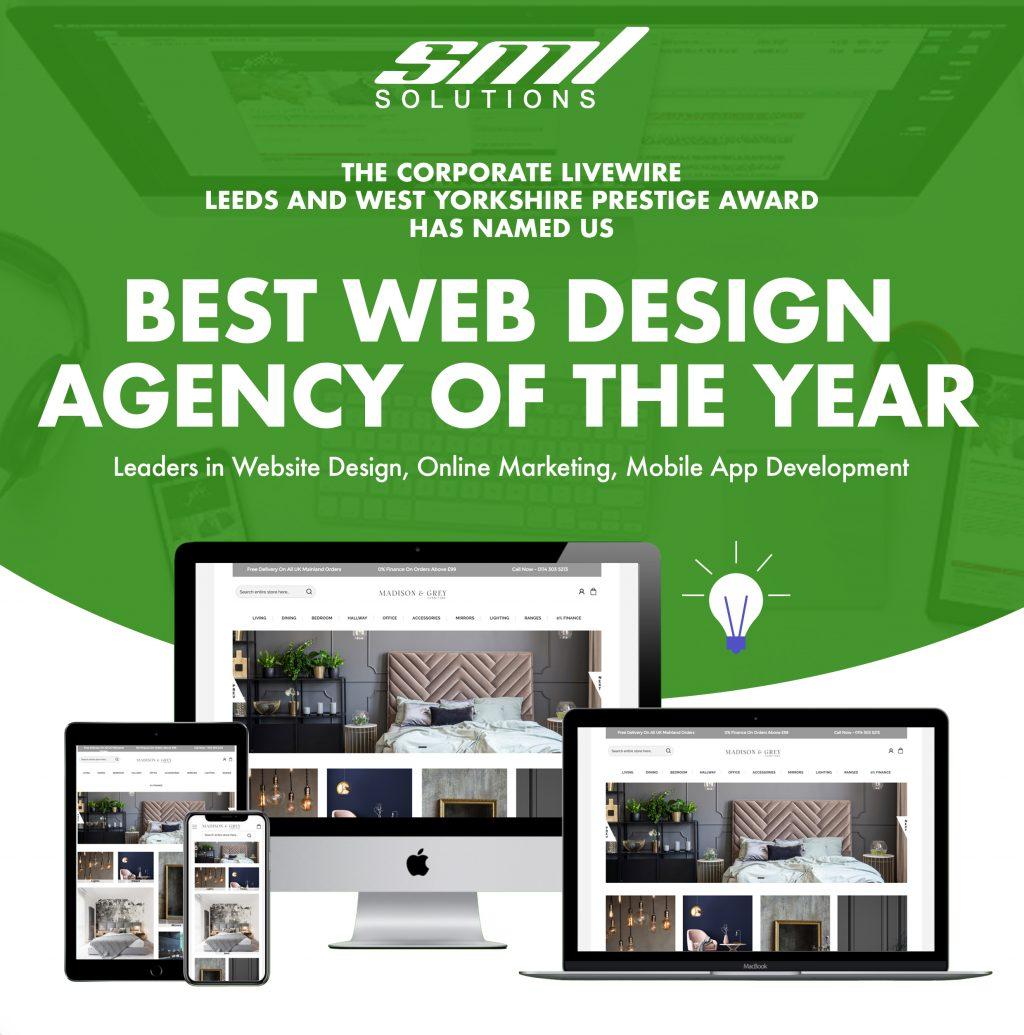 Sml Solutions Ltd Wins Website Design Agency Of The Year Prestige Awards