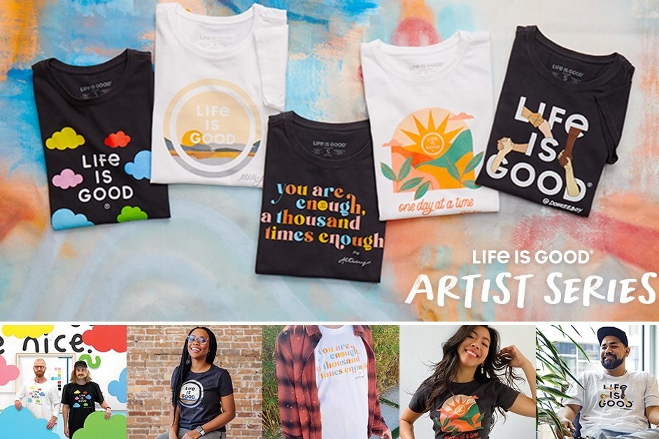 LIFE IS GOOD LAUNCHES EXCLUSIVE COLLABORATION WITH FIVE STANDOUT ARTISTS TO INSPIRE OPTIMISM IN 2021