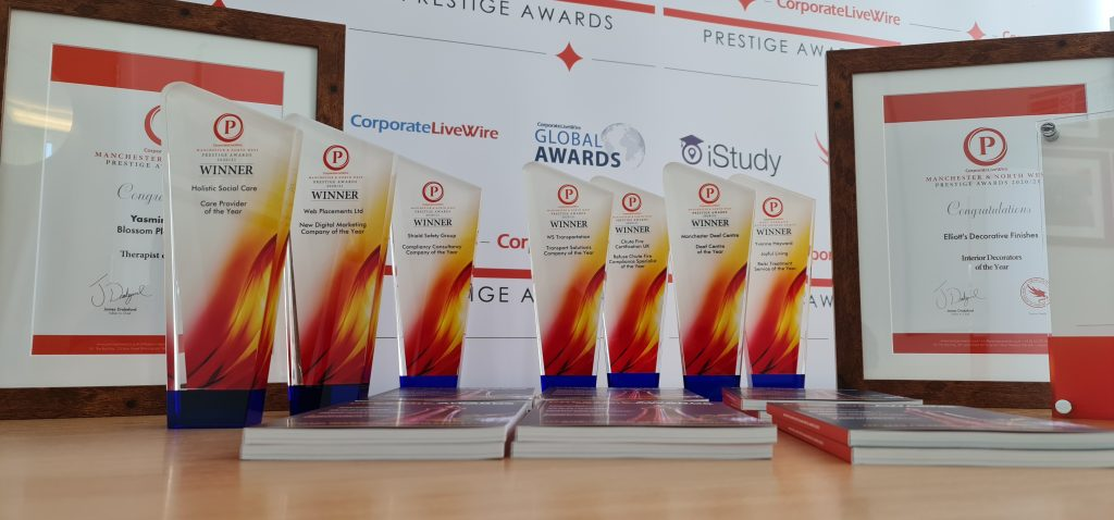 THE MANCHESTER AND NORTH WEST PRESTIGE AWARDS 2020/21 IS NOW OUT.